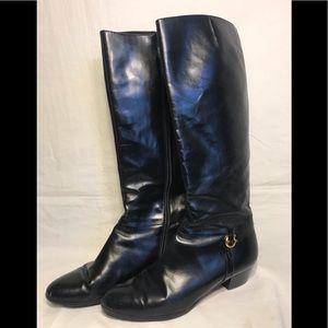 👠 Salvatore Ferragamo women's leather boots